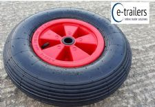 "STARCO 400x8 4.80-8 16"" Red Plastic Launch Trolley Wheel tyre Boat Dinghy Barrow 4 ply"